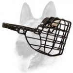Schutzhund Wire Rubber Covered Basket Dog Muzzle for Winter
