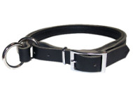 Adjustable Leather Slip Collar with Nickel Plated Hardware for Dog Training