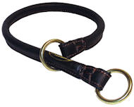 1/4 inch Wide Rolled Choke Dog Collar for schutzhund dogs