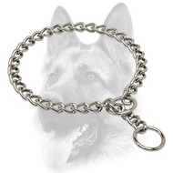 Adorable Chrome Plated Dog Choke Collar - 1/9 inch (3 mm)