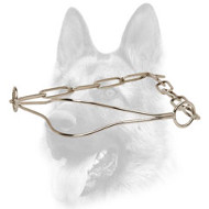 Phenomenal Chrome Plated Show Dog Collar