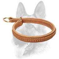Gorgeous Wide 2 Ply Leather Choke Dog Collar