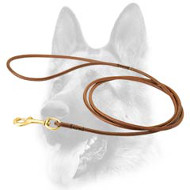 Reliable Round Leather Dog Leash for Dog Shows