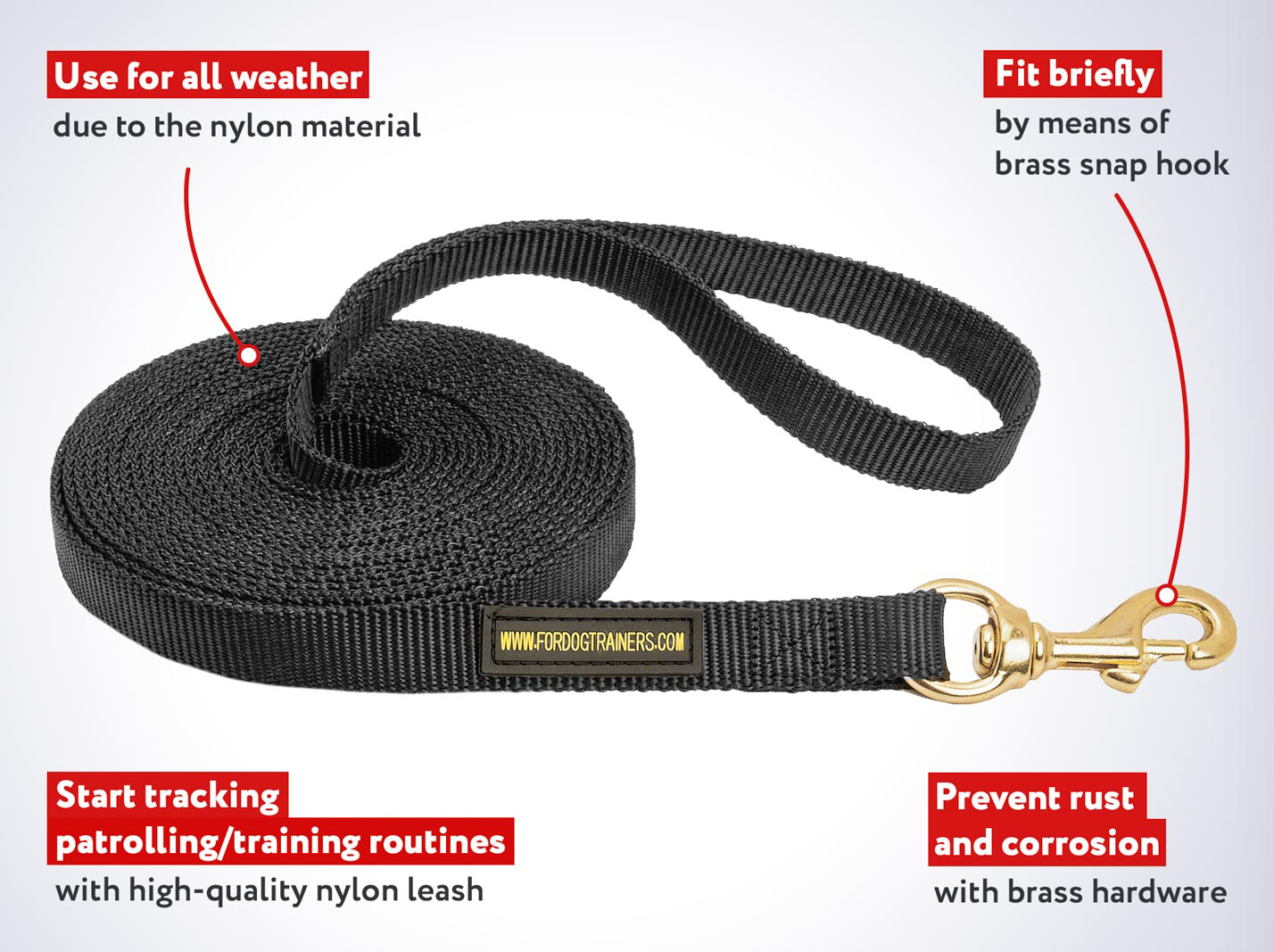 Training and Tracking Nylon Dog Leash