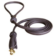 Jolly Handcrafted Round Leather Dog Leash
