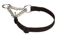 All Weather Nylon Martingale Dog Collar - 51614nylon - 4/5 inch (20 mm) width nylon strap
