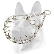 Impressive Chrome Plated Dog Pinch Collar - 1/8 inch (3.2 mm)