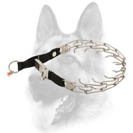 Stunning Stainless Steel Dog Pinch Collar with Click Lock Buckle - 50026 10 (55) 1/8 inch (3.2 mm)
