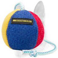 Unique French Linen Dog Toy on String for Schutzhund Work - Big