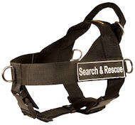 Schutzhund Heavy-Duty Nylon Harness-SAR All-Breed Professional Dog Harness