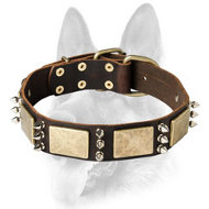 Exquisite Canine Collar for All Dog Breeds - Handmade Working Leather Collar