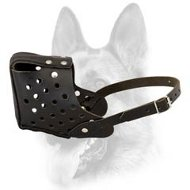 Attack/Agitation Training Dog Muzzle-Leather Schutzhund Dog Breeds Muzzle