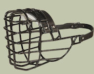 Schutzhund Wire Basket Dog Muzzle for winter