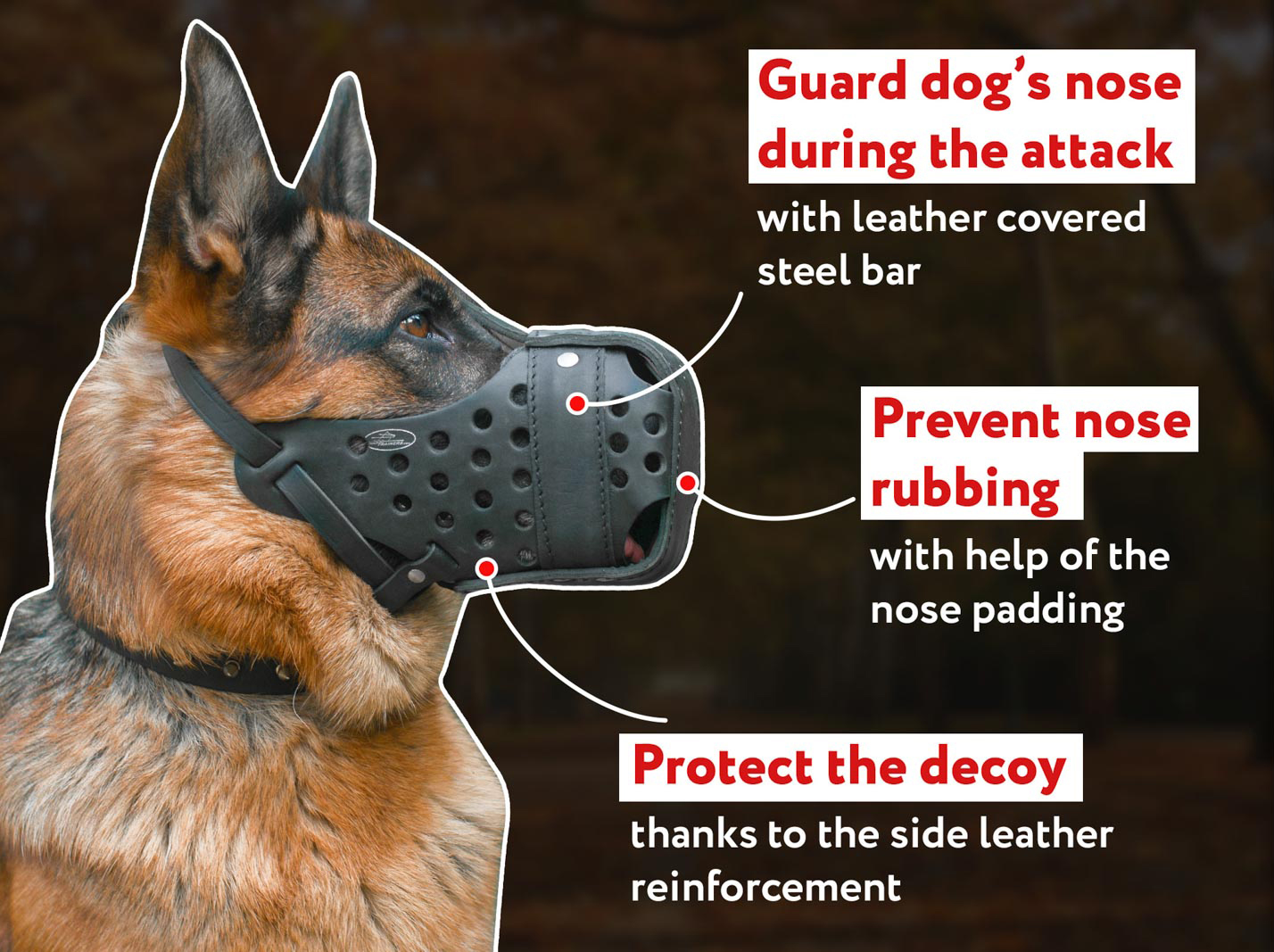Attack and Agitation Training Dog Muzzle with Excellent Air Flow