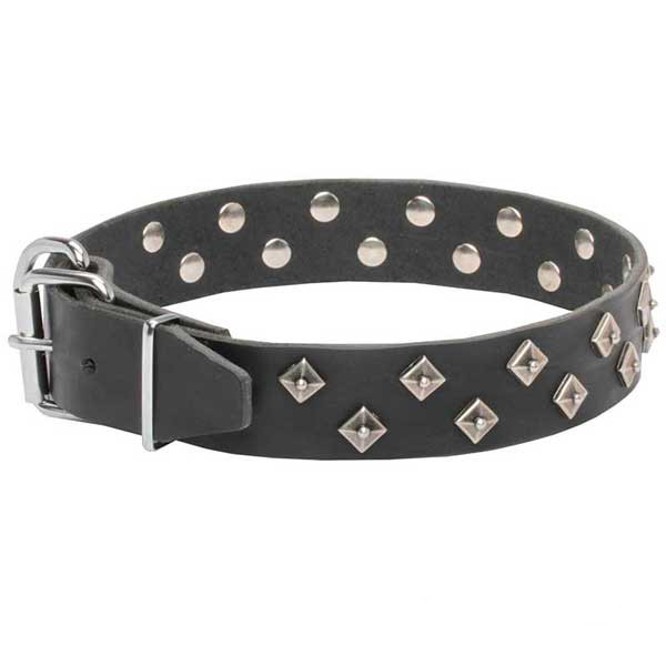 Utmost safety leather dog collar