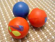 Crazy Color Rubber Dog Ball