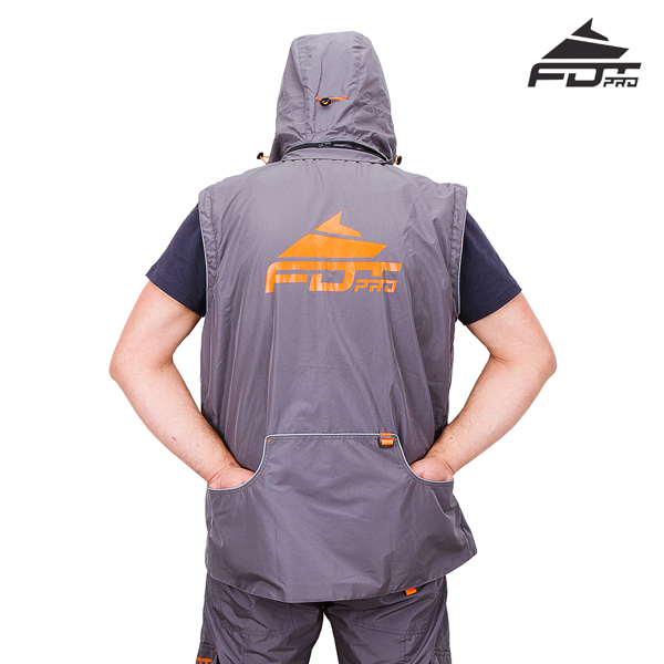 Top Notch Dog Training Suit Grey Color from FDT Pro