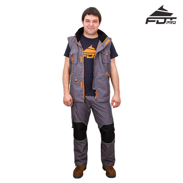 Everyday Activities Dog Tracking Suit Grey Color from FDT Pro Wear