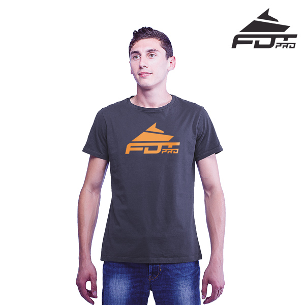 Top Quality Cotton FDT Professional Men T-shirt Dark Grey Color