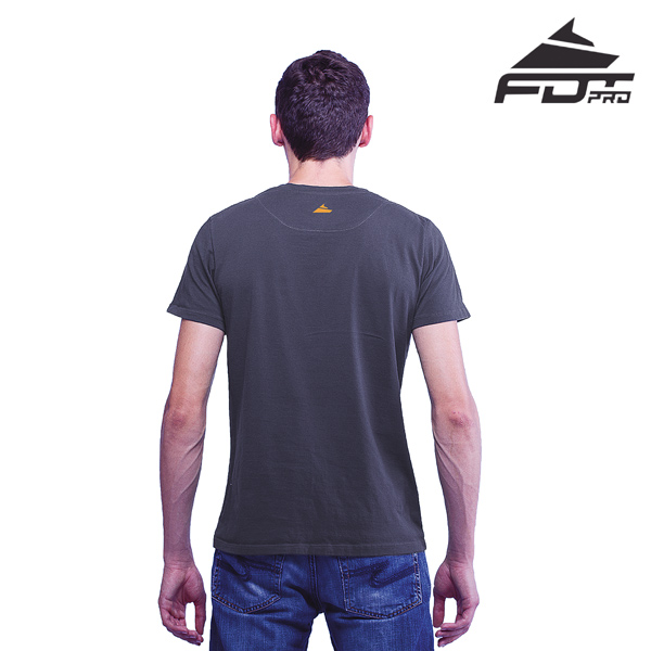 Men T-shirt of Dark Grey Color Pro for Dog Trainers
