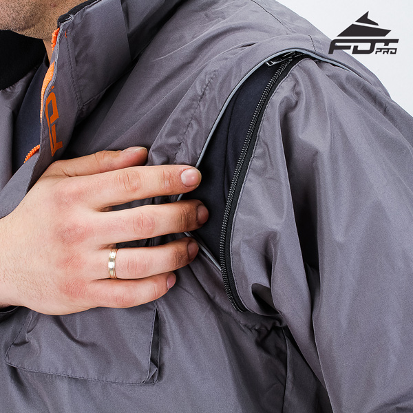 Reliable Zipper on Sleeve for FDT Professional Design Dog Tracking Jacket