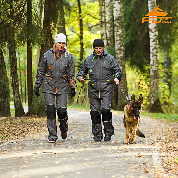 Unisex Strong Dog Tracking Suit for Men and Women with Reflective Strap