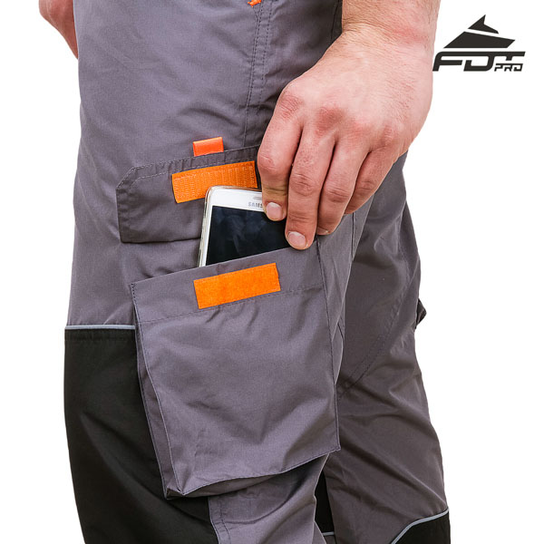 Durable Pants with Side Pockets on Velcro patches