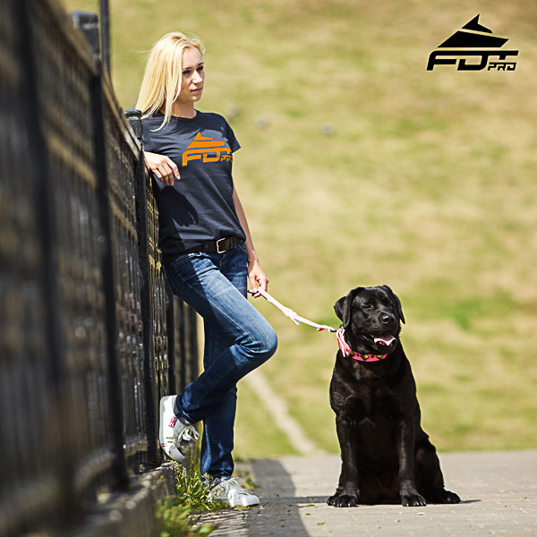 Dog Training Women T-shirt of Best Quality Cotton