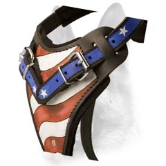 Padded reliable training dog harness