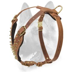 High quality spiked dog harness