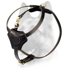 Practical and reliable leather dog harness