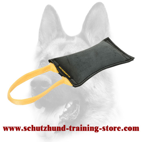 Professional Leather Bite Tug with 1 Handle for Dog Training