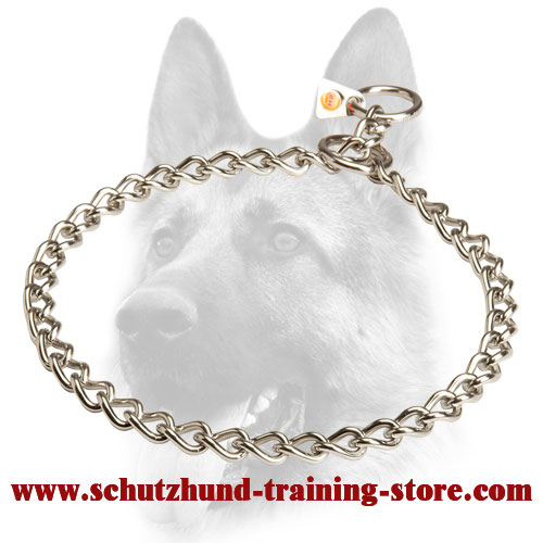 New Stainless Steel Dog Choke Collar - 51112 (55) 1/9 inch (3.00 mm)