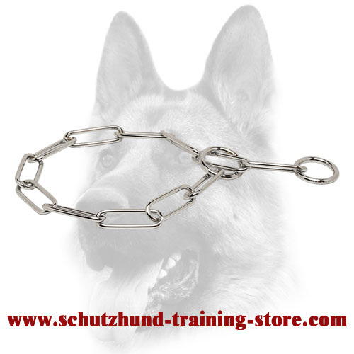 Fine Chrome Plated Dog Fur Saving Collar - 1/6 inch (4.0 mm)
