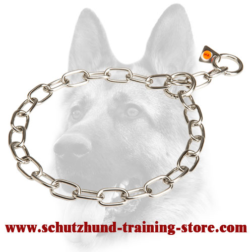 Shiny Stainless Steel Fur Saver for Dog Obedience Training - 51541 (55) 1/9 inch (3.00 mm)