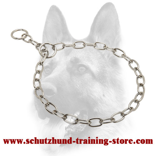 Surprising Chrome Plated Choke Collar - 1/8 inch (3.2 mm)