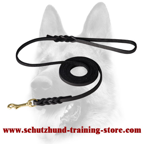 Perfect Show Leather Dog Leash