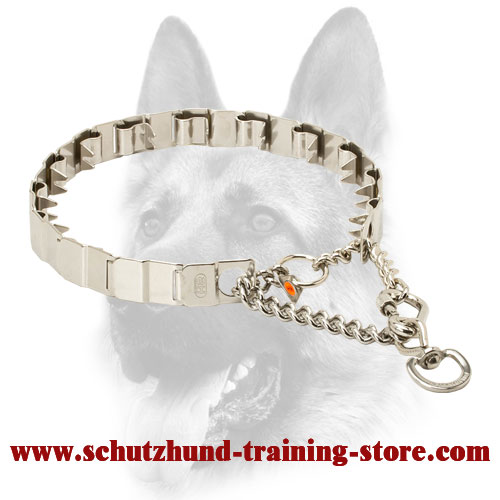 Super Strong Stainless Steel Neck Tech Collar for Dog Behavior Correction - 50155 014 (55) 24 inch (60 cm)