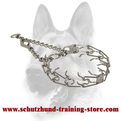 Stunning Quality Dog Chrome Plated Pinch Collar - 50136 (02) 1/11 inch (2.25 mm)