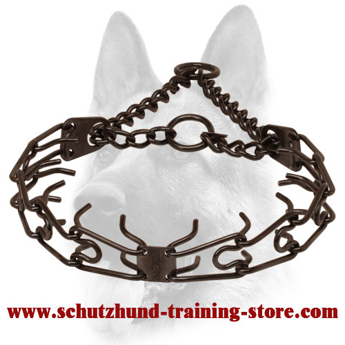 Superb Black Steel Pinch Collar for Dog Behavior Correction - 50004 010 (57) 1/8 inch (3.2 mm)