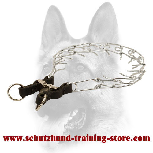 Tremendous Chrome Plated Pinch Dog Collar - (10225-02) 1/11 inch (2.25 mm)