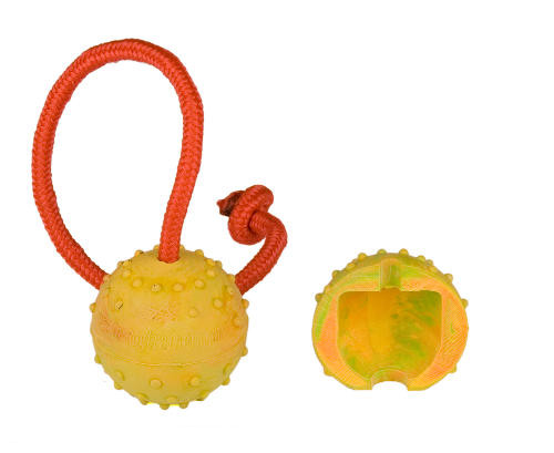2 inch(5 cm) Bright Half Hollow Rubber Ball on the String - Small