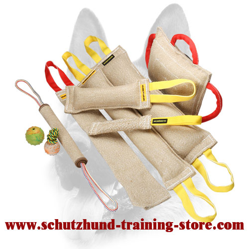 Awesome Set of Jute Bite Tugs for Dog Training