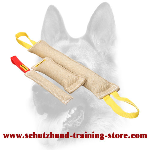 3 Gorgeous Jute Bite Tugs in One Dog Training Set