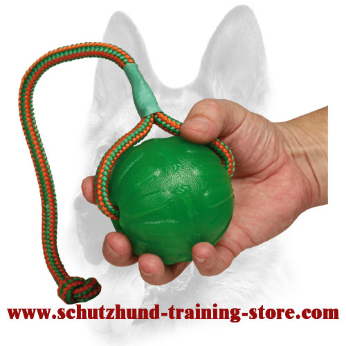 """Roll and Throw"" Chew Water Dog Ball Made of Special Rubber for Training and Playing"