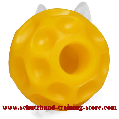 Challenging Bright Treat Dispensing Ball for Small Dog Breeds - Small