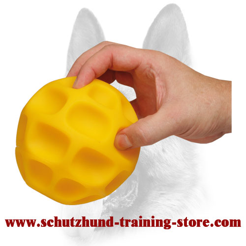 Honeycomb Bright Treat Dispensing Dog Ball for Large Dogs - Large