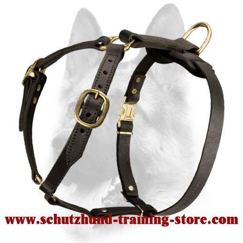 leather dog harness sizing H7_LRG luxury handmade leather dog harness for schutzhund training [h7