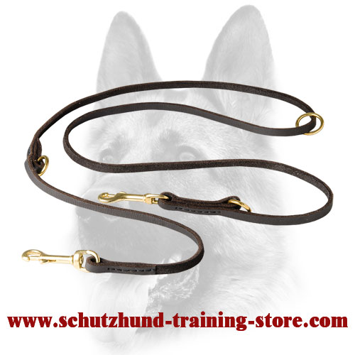 Baby Soft English Leather Dog Lead for Walking and Training