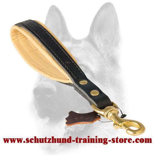Short Leather Dog Leash with/without Support Material on The Handle - Click Image to Close